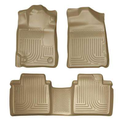 Front & 2nd Seat Floor Liners (Footwell Coverage) Fits 07-11 Camry