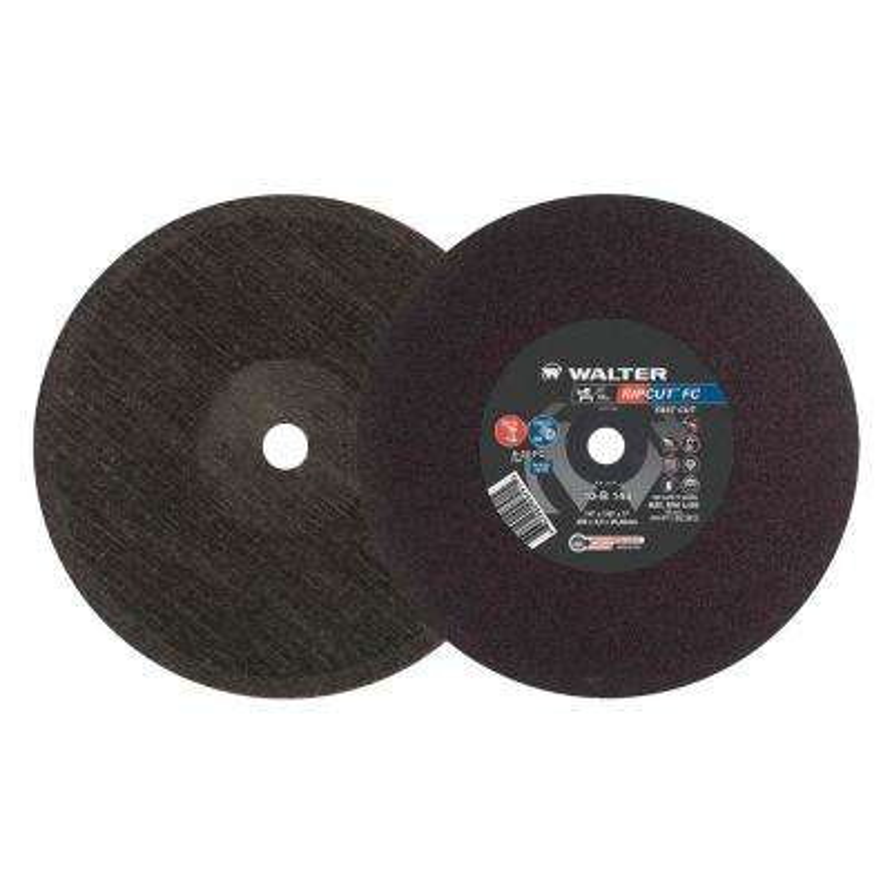 RIPCUT 14 in. x 1 in. Arbor x 1/8 in. T1 GR A24FC Cutting Disc (10-Pack)