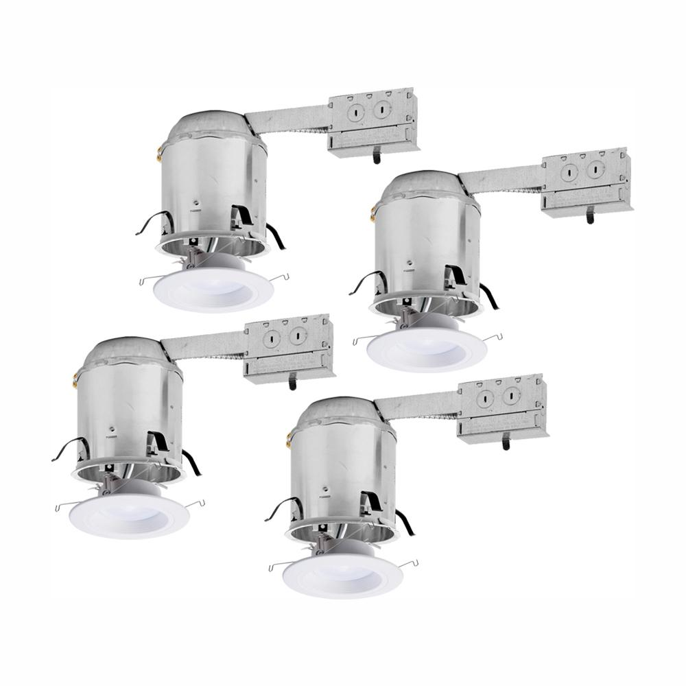 Utilitech 4 In White Integrated Led Remodel Recessed Light: Halo RL 6 In. Remodel Ceiling Housing And Dimmable White