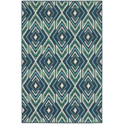 Boutique Blue Aqua 7 ft. x 10 ft. Outdoor Area Rug