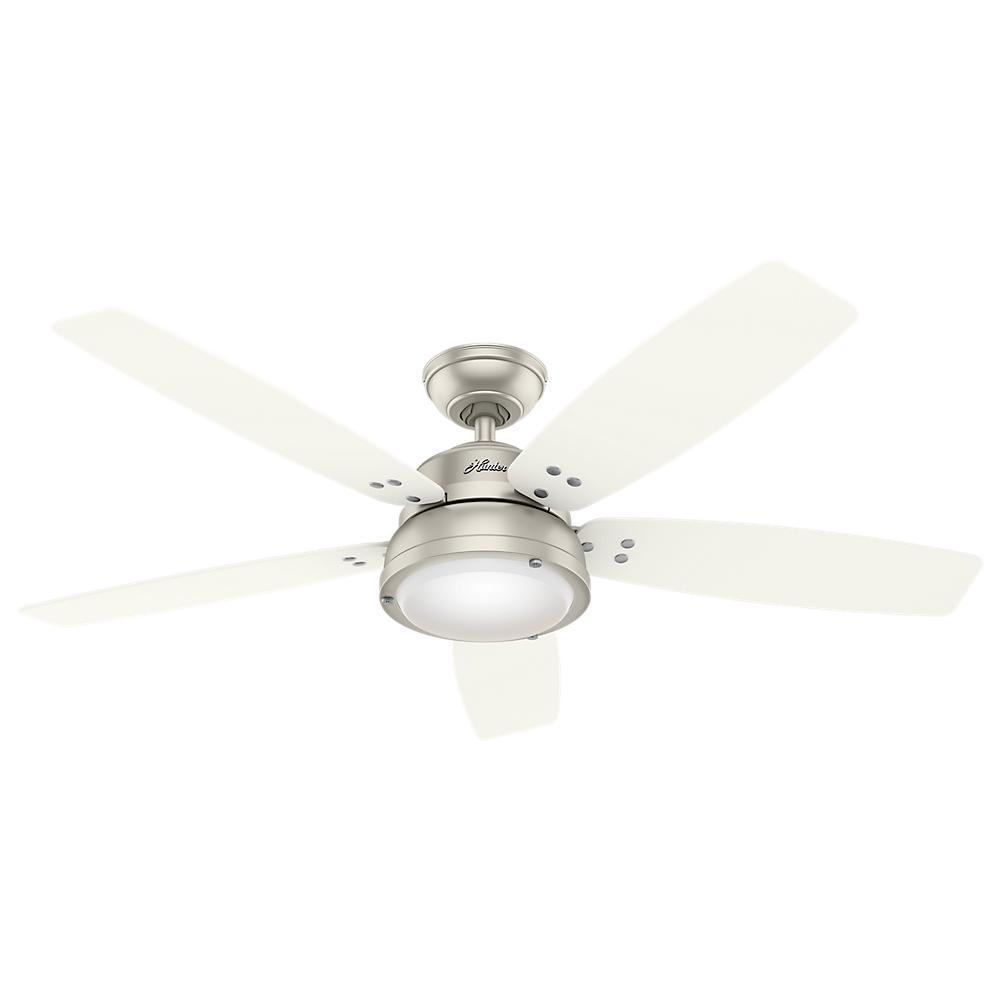 Channelside 52 in. LED Outdoor Matte Nickel Ceiling Fan