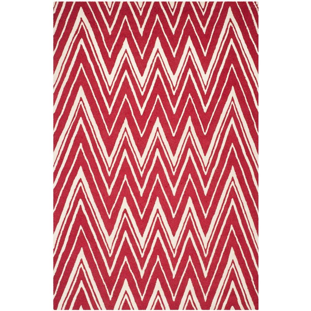 Cambridge Red/Ivory 6 ft. x 9 ft. Area Rug