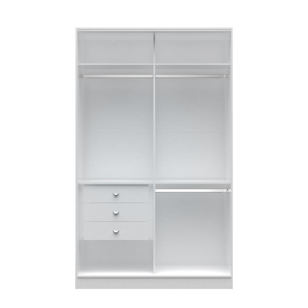 Chelsea 1.0 - 54.33 in. W White Double Basic Wardrobe with