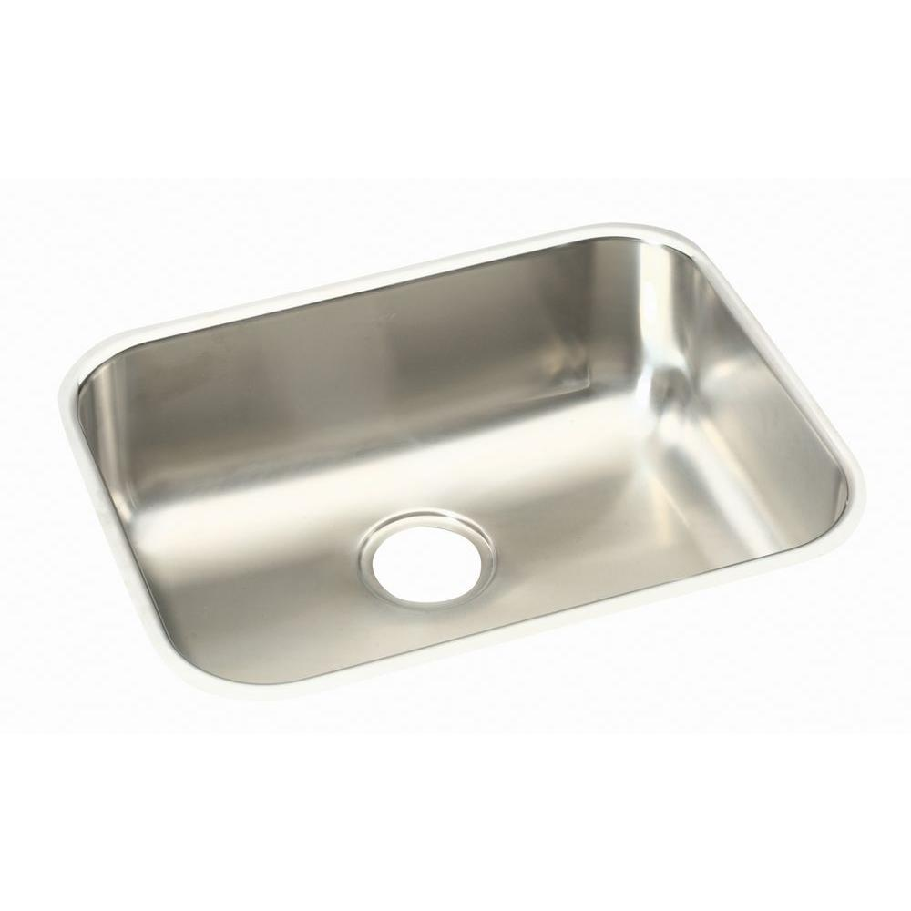 Elkay Kitchen Sinks: Elkay Undermount Stainless Steel 24 In. Single Bowl