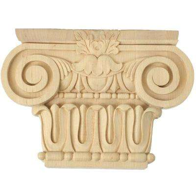 2 in. x 7 in. x 5-5/8 in. Unfinished Wood Maple Small Bradford Roman Ionic Corbel
