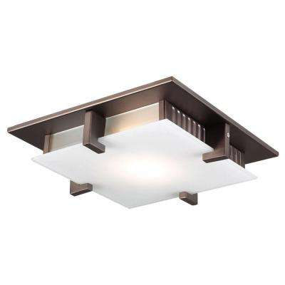 1-Light Oil Rubbed Bronze Flush Mount
