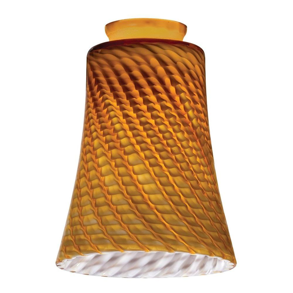 Globes shades ceiling lighting accessories the home depot amber twt concave bell shade n pdnt arubaitofo Gallery