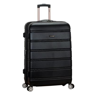 Melbourne 28 in. Black Expandable Hardside Dual Wheel Spinner Luggage