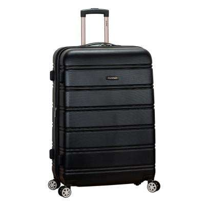 Melbourne 28 in. Black Expantable Hardside Dual Wheel Spinner Luggage