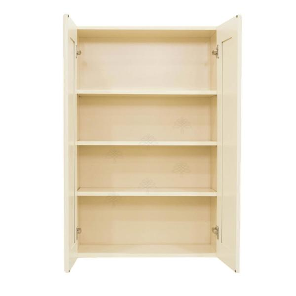 Lifeart Cabinetry Oxford Creamy White Plywood Raised Panel Stock Assembled Wall Kitchen Cabinet 36 In W X 42 In H X 12 In D Ao W3642 The Home Depot