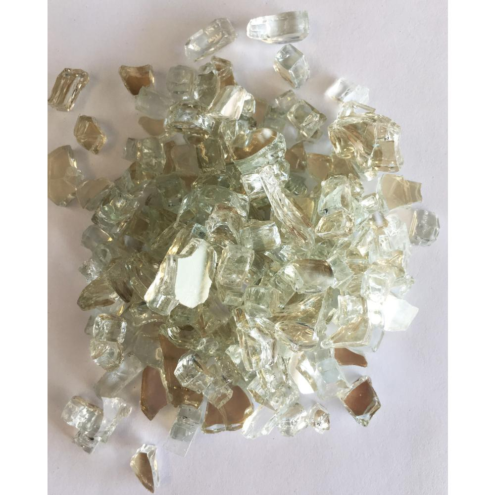 EZ Fire Glass 1/4 in./10 lbs. Platinum Reflective