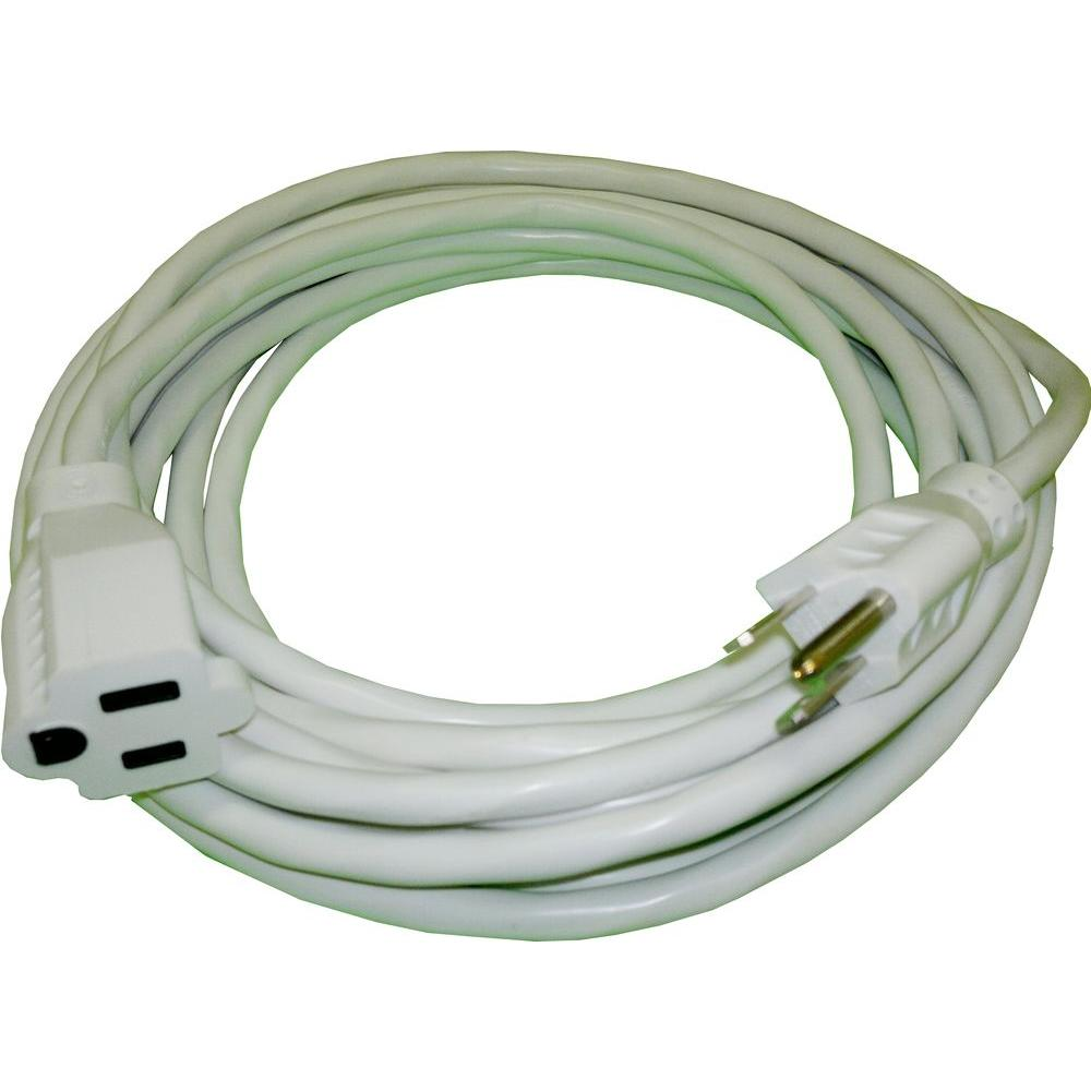 50 ft. 16/3 Outdoor Extension Cord - White