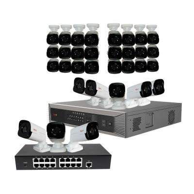 Ultra Plus HD 32-Channel 4TB NVR Surveillance System with 32 4 Megapixel Bullet Cameras