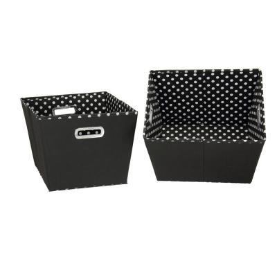 12 in. x 10 in. 2 Toned Fabric Tapered Bin (Set of 2)