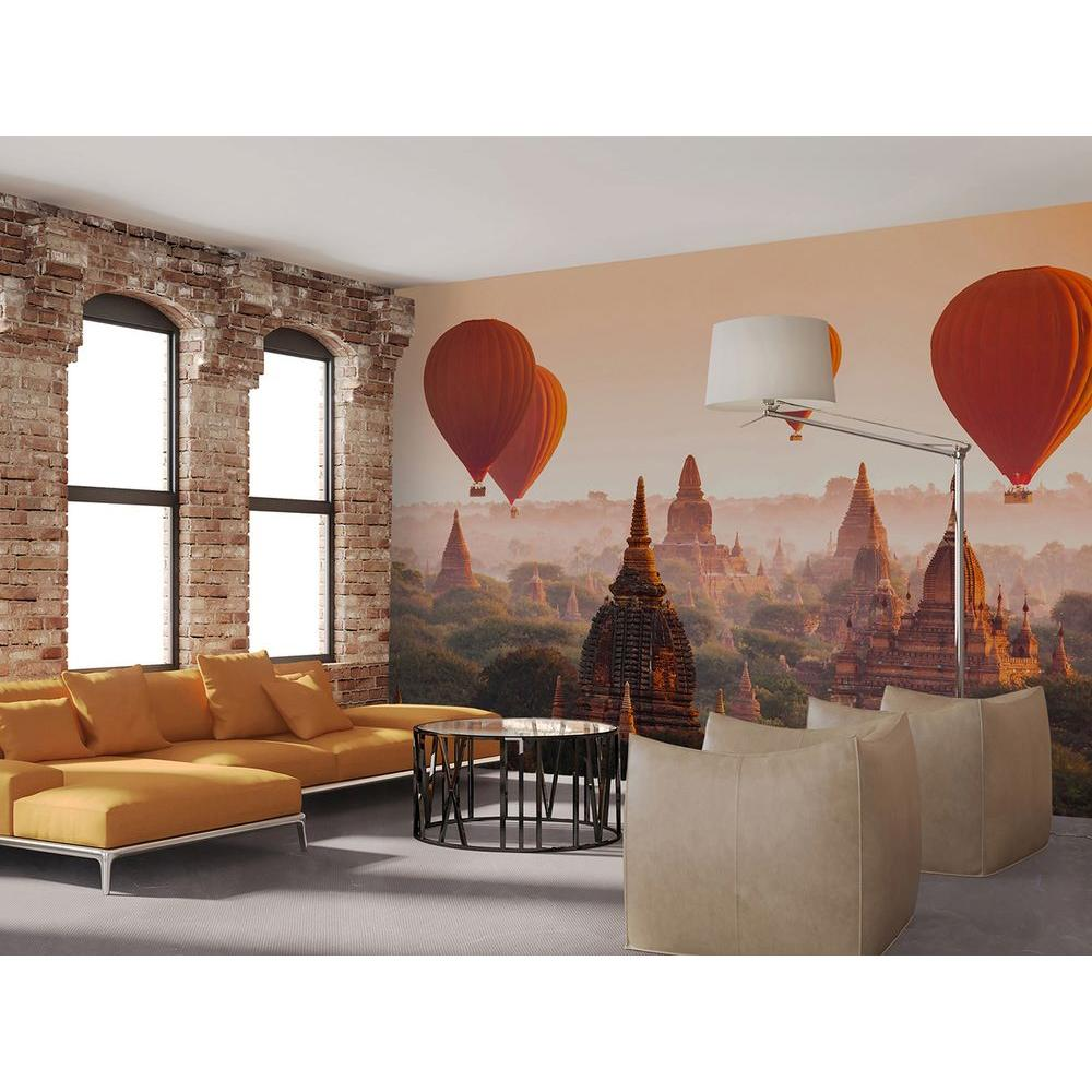 Home Decor Murals: Ideal Decor 144 In. W X 100 In. H Balloons Over Bagan Wall
