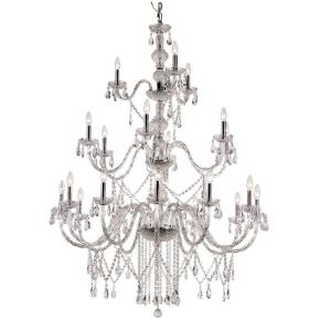 Bel Air Lighting Zircon 21-Light Polished Chrome Chandelier by Bel Air Lighting