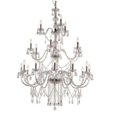Zircon 21-Light Polished Chrome Chandelier