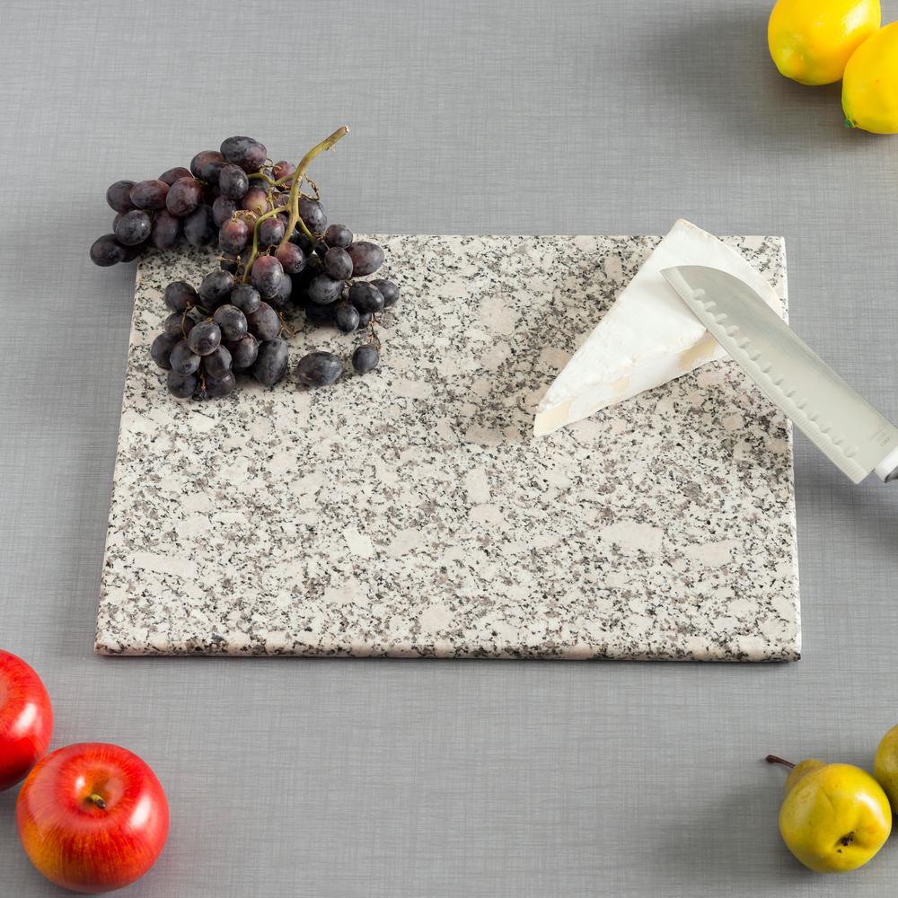 Home Basics 12 in. x 16 in. Granite Cutting Board in