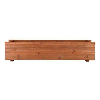 36 in. x 7 in. Wood Window Planter Box
