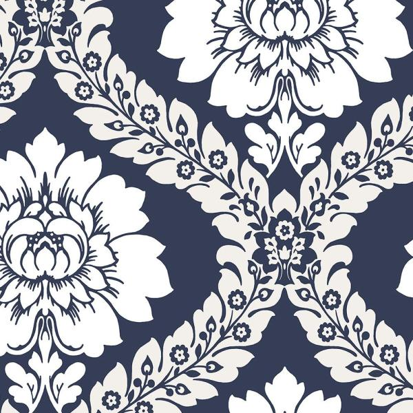 Norwall Daisy Damask Wallpaper SH34516
