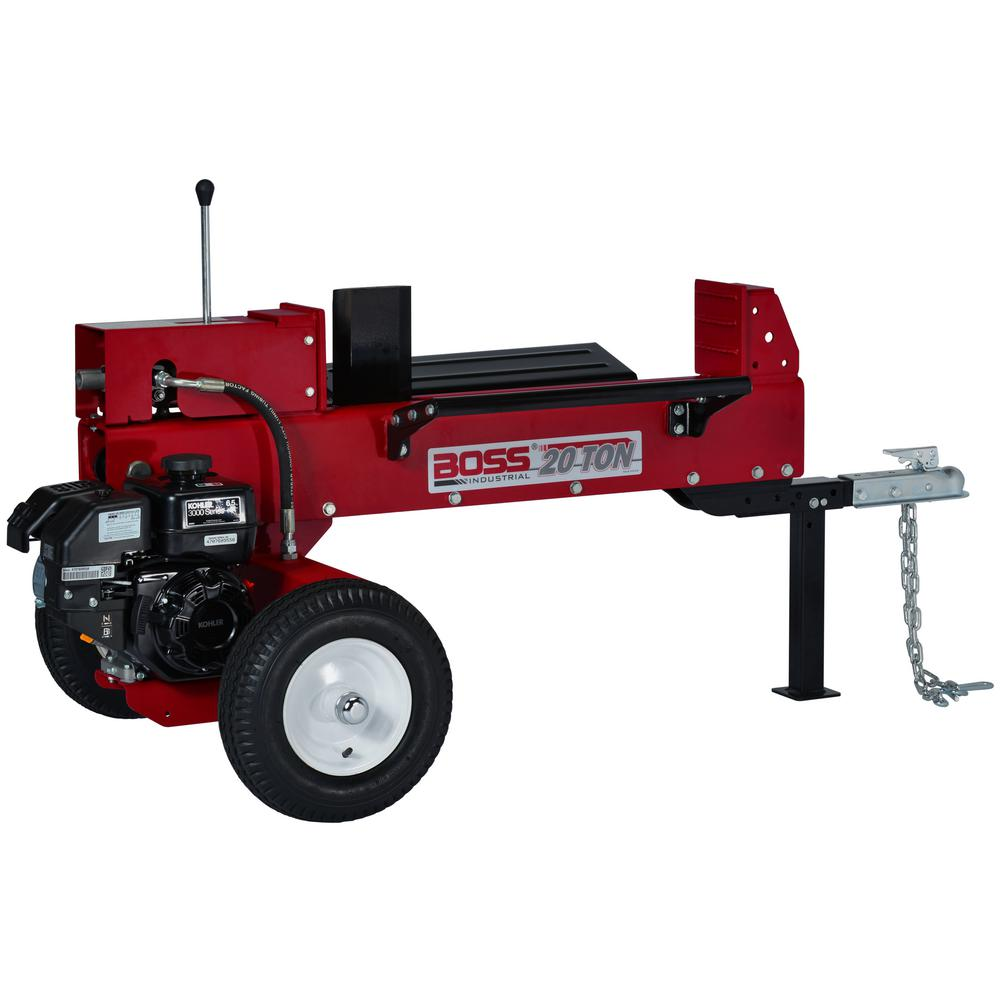 Boss Industrial 20-Ton 196cc Gas Log Splitter