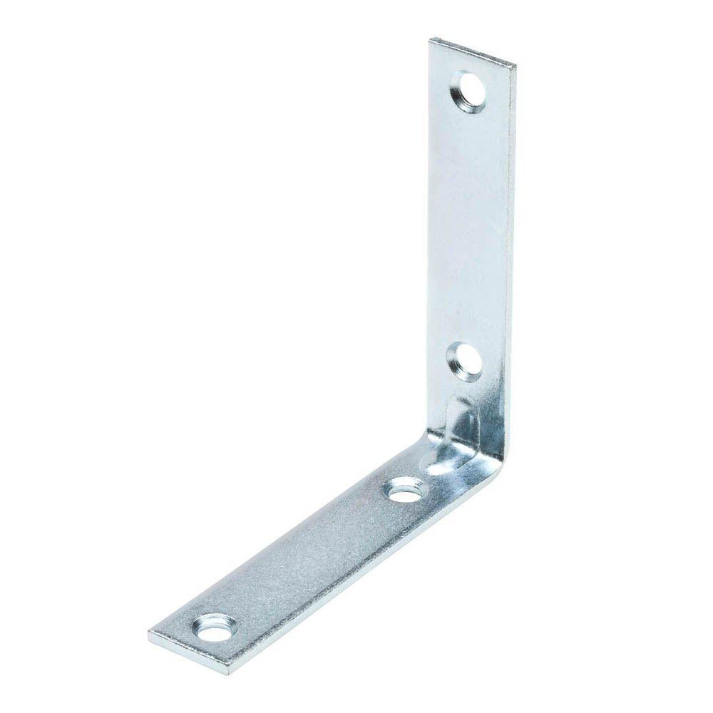 Everbilt 4 in. Zinc-Plated Corner Brace (2-Pack)