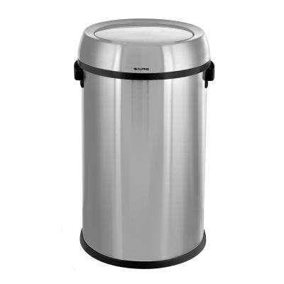 17 Gal. Stainless Steel Commercial Trash Can with Swing Lid
