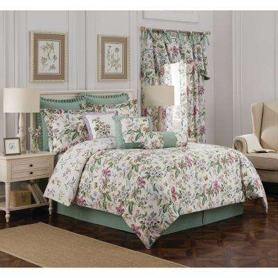 Williamsburg Palace Green 4-Piece Green King Comforter Set