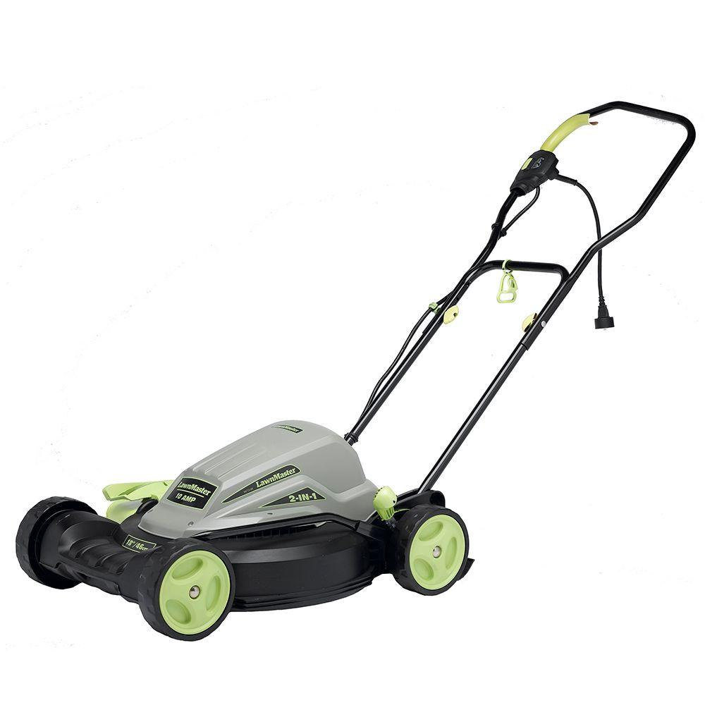 Lawnmaster 18 In 10 Amp 2 In 1 Walk Behind Corded