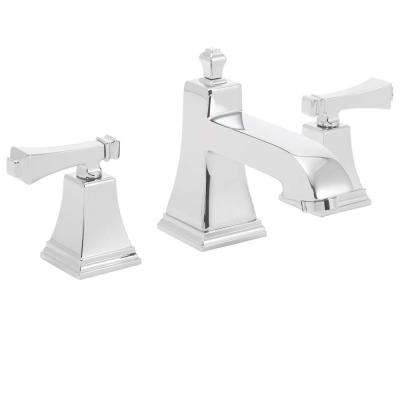 Rainier 8 in. Widespread 2-Handle Bathroom Faucet with Pop-Up Drain in Polished Chrome