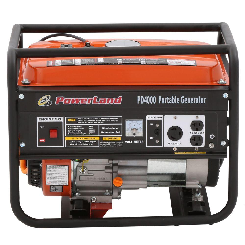 Powerland 3300 Watt Gasoline Powered Portable Gas Generator Pd4000 Circuit Breaker Parts