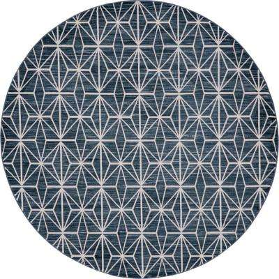 Uptown Collection by Jill Zarin™ Fifth Avenue Navy Blue 8' 0 x 8' 0 Round Rug