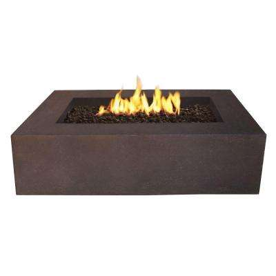 Baltic 51 in. Rectangle Natural Gas Outdoor Fire Pit in Kodiak Brown