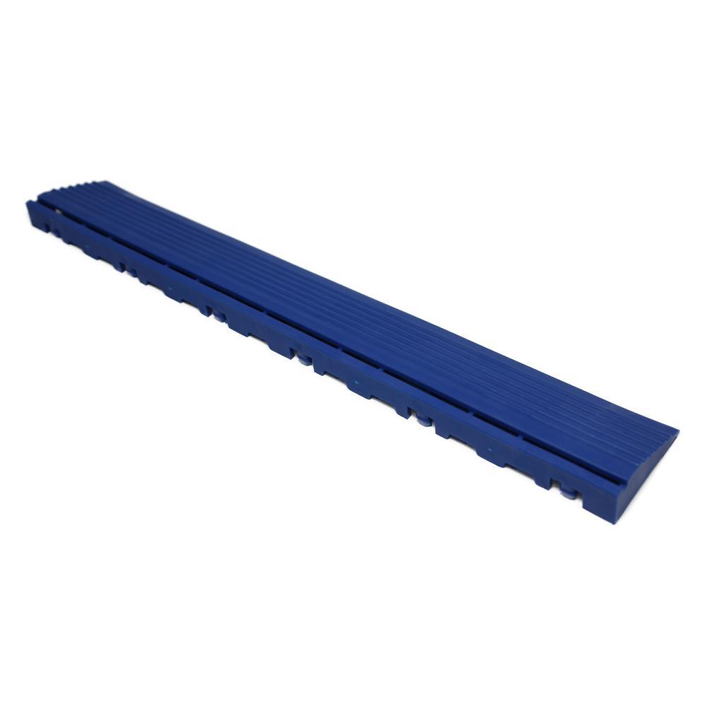 15.75 in. Royal Blue Pegged Edging for 15.75 in. Swisstrax Modular Tile Flooring (2-Pack)