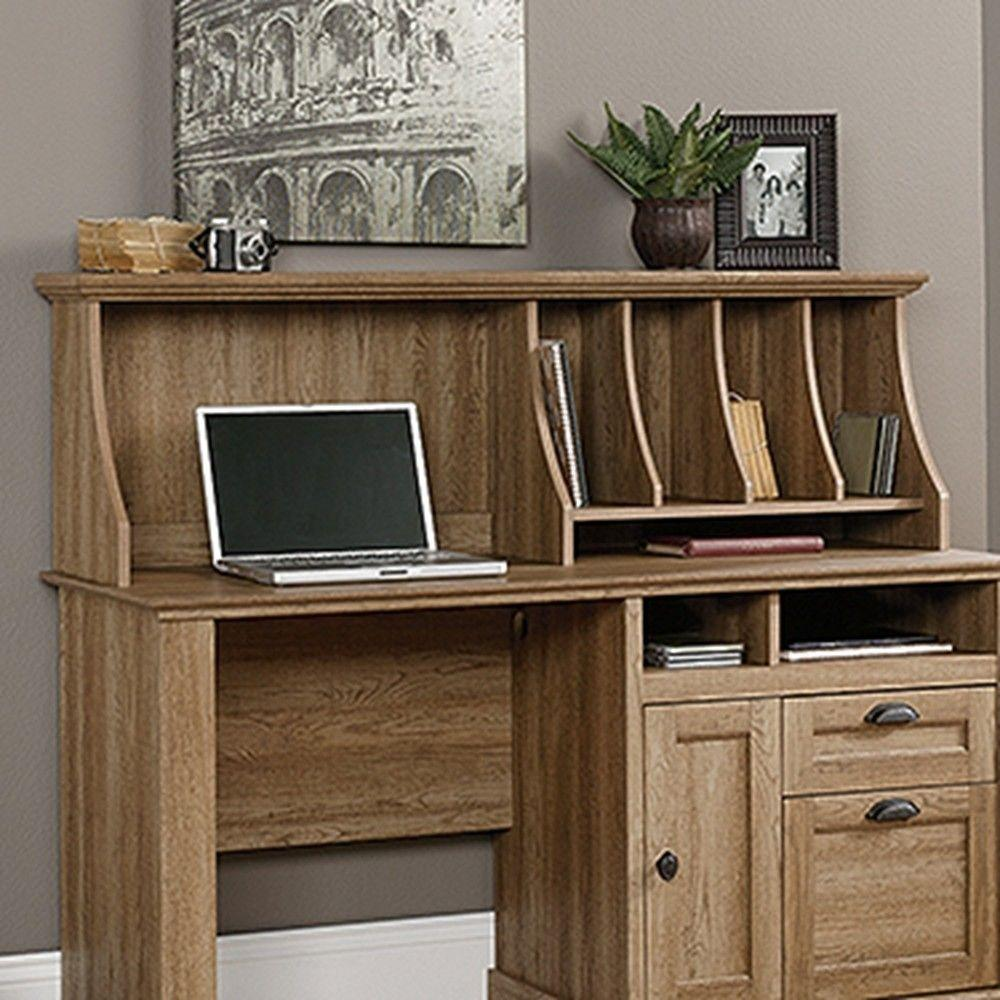 Sauder Barrister Lane Scribed Oak Hutch
