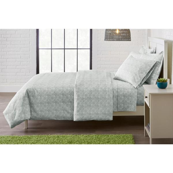 StyleWell Brushed Soft Microfiber 3-Piece Full/Queen Duvet Cover Set