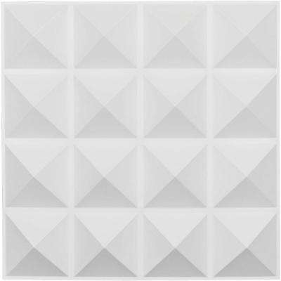 1 in. x 19-5/8 in. x 19-5/8 in. White PVC Cornelia EnduraWall Decorative 3D Wall Panel