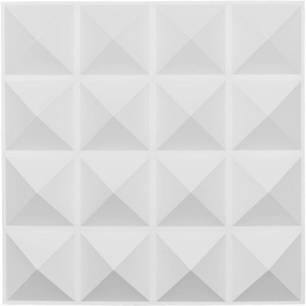 1 in. x 19-5/8 in. x 19-5/8 in. White PVC Cornelia EnduraWall Decorative 3D Wall Panel