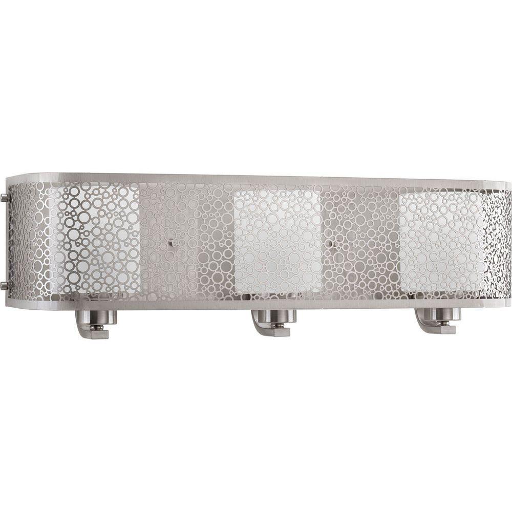 "Progress Lighting P2163-09 Mingle 24/""W 3-Light Vanity Light with Cylinder Shades"