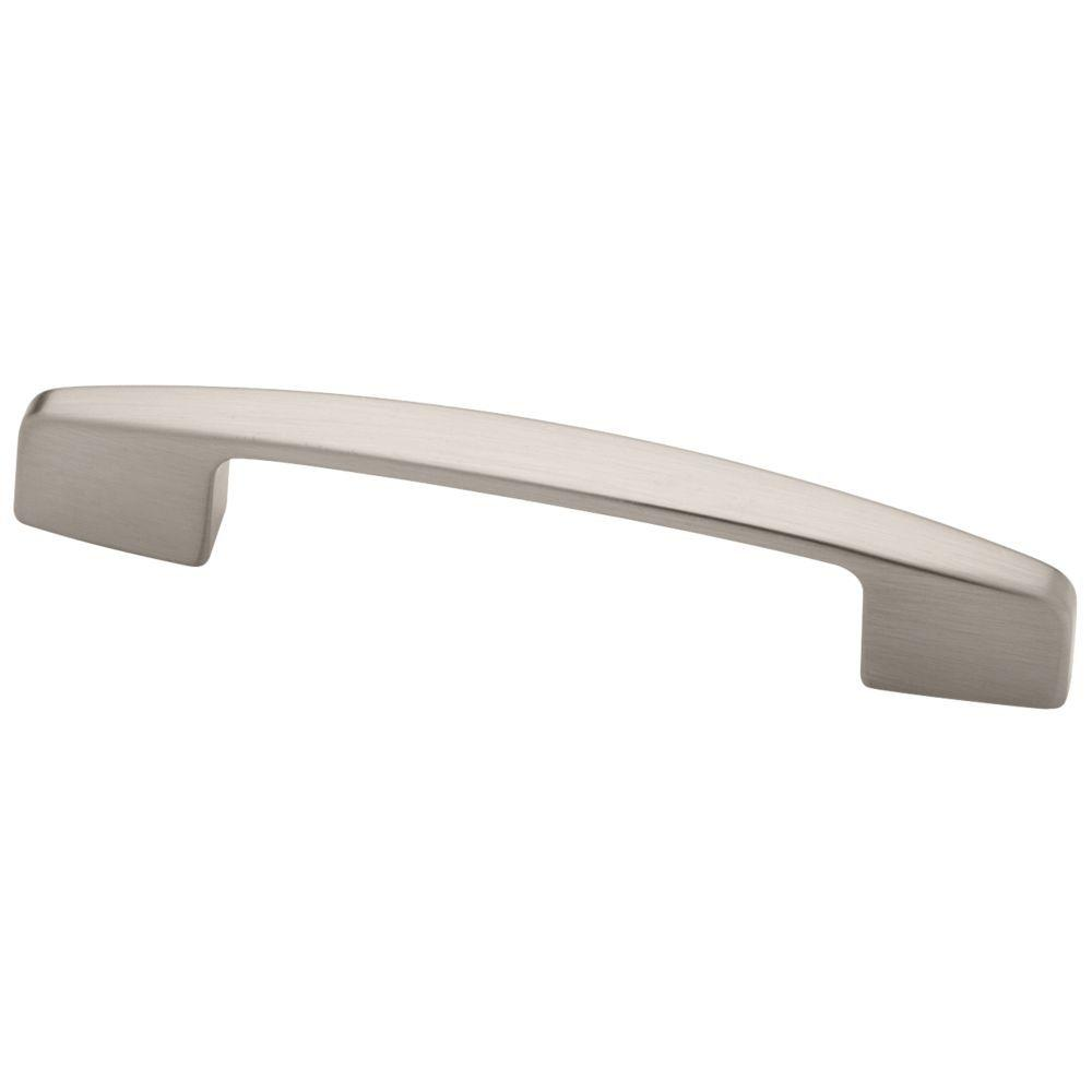Liberty Newton 2-3/4 or 3 in  (70 or 76 mm) Center-to-Center Satin Nickel  Dual Mount Drawer Pull (10-Pack)