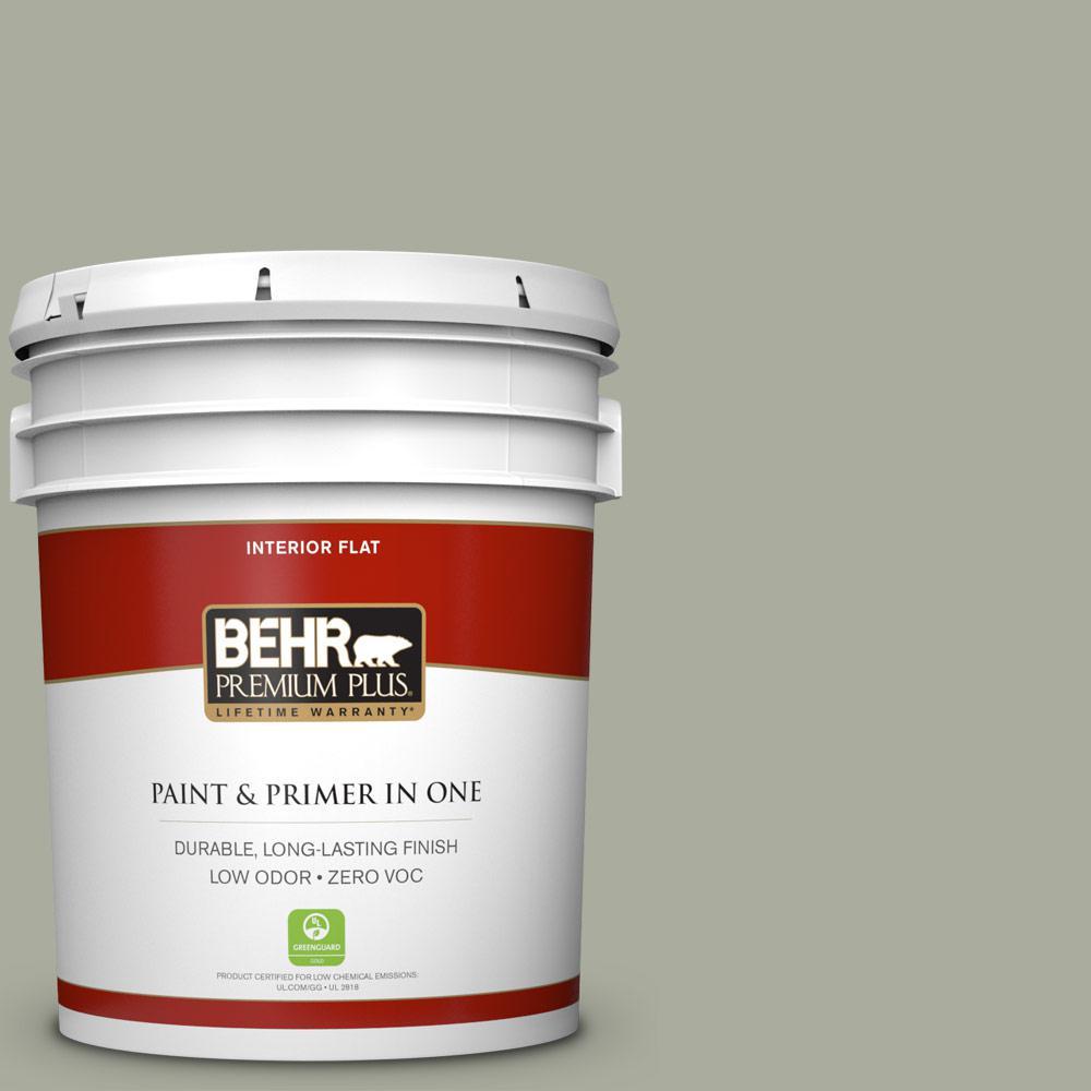 BEHR Premium Plus 5-gal. #ICC-67 Meditation Zero VOC Flat Interior Paint