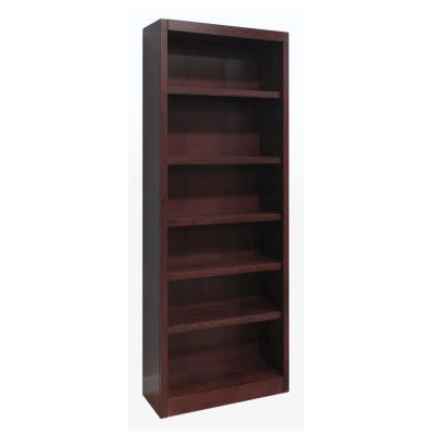 Midas Wood Bookcase, 6 Shelves, 84 in. H, Cherry Finish