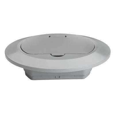 Slater Plastic Gray 1-Gang Round Floor Box Cover