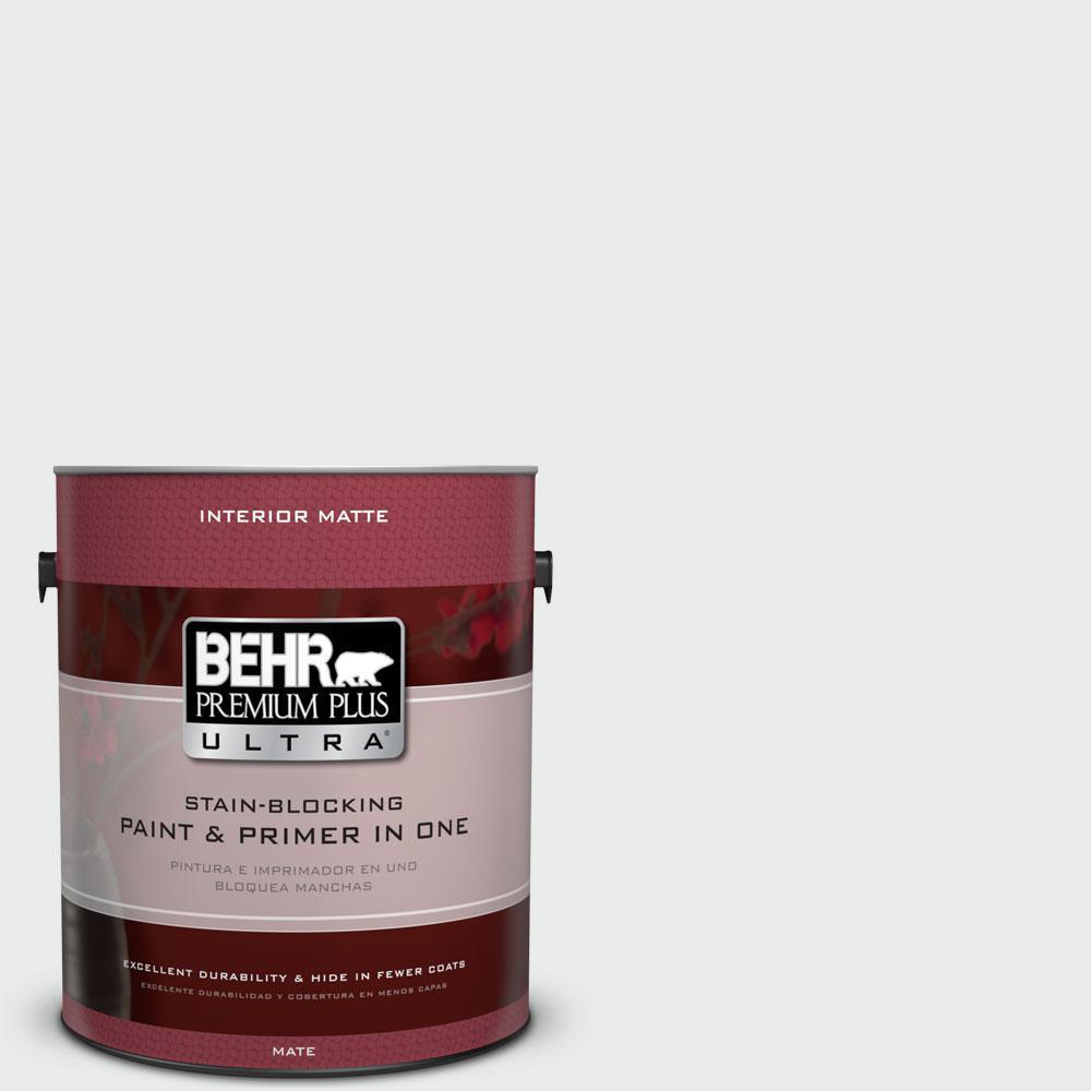 BEHR Premium Plus Ultra 1 gal. #W-F-510 Silver Sky Flat/Matte Interior Paint