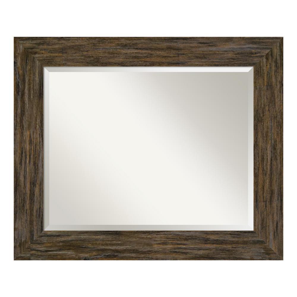 Amanti Art Fencepost Brown Bathroom Vanity Mirror DSW4094170