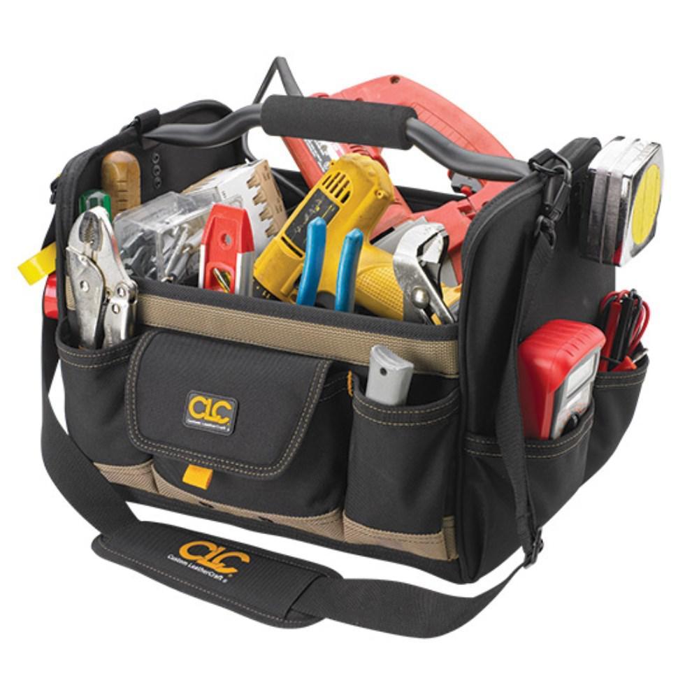 11 in. 21-Pockets Tool Box in Black