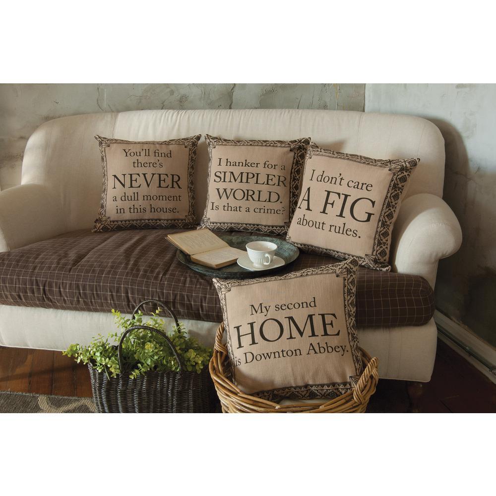 Downton Life Sesame/Iron Simpler Decorative Pillow