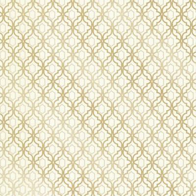 Alcazaba Gold Trellis Wallpaper Sample