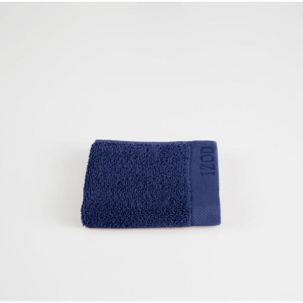 IZOD Classic Egyptian Cotton Wash Cloth in Dress Blue 079465022407