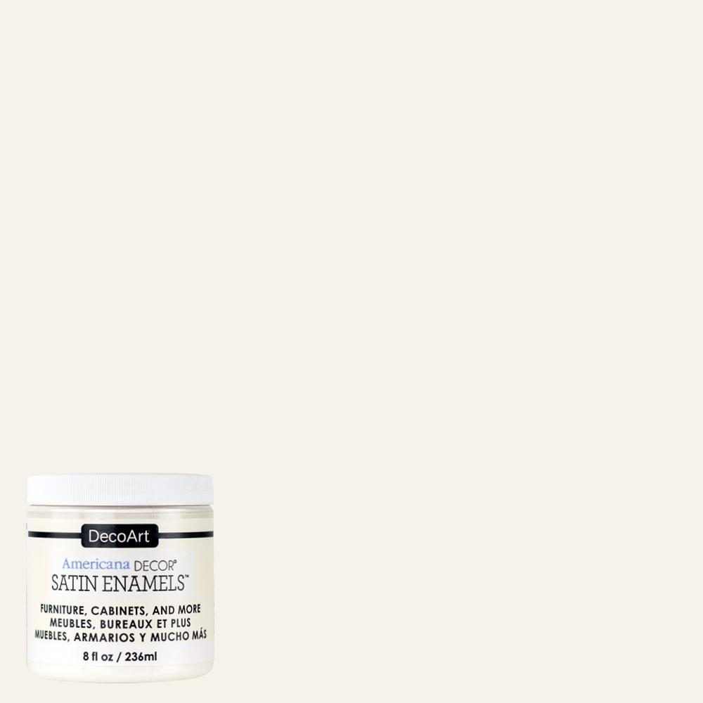 Americana Decor 8 Oz. Warm White Satin Enamel Paint-ADSA03-98